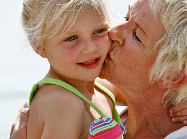 Oma met kleinkind