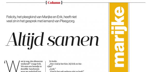 Column AD Magazine: Marijke 1