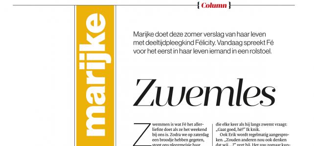 Column AD Magazine: Marijke 3
